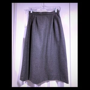 Vintage Gray 100% Wool skirt by Peabody House